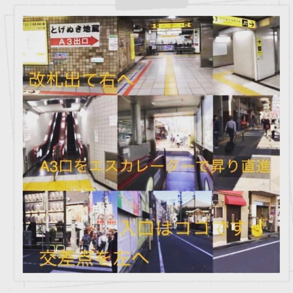 都営三田線・巣鴨駅からのご案内
